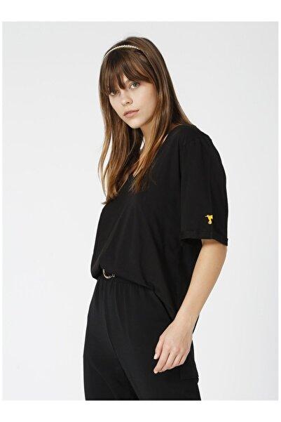 Fabrika Kadın Siyah Tişört