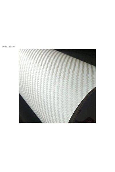 wolf-fol 3d Beyaz Karbon Folyo 152cmx1.80mt Hava Kanallı Araç Kaplama Folyosu