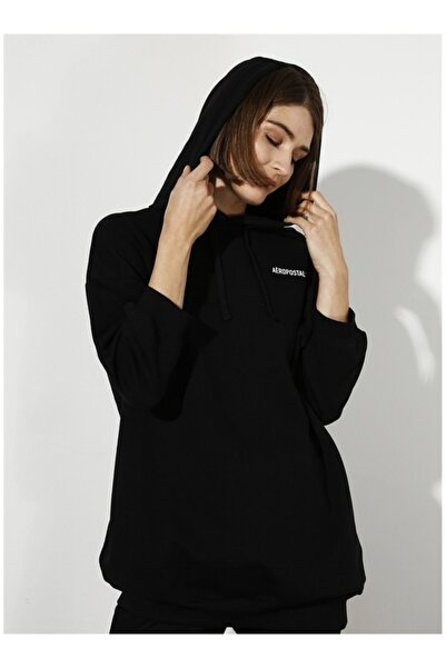AEROPOSTALE Kadın Siyah Sweatshirt