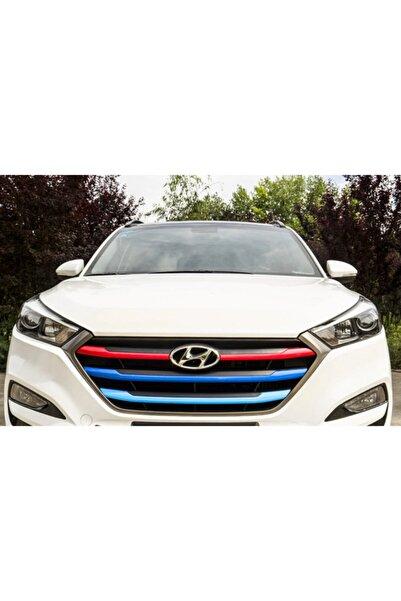 Hyundai Tucson 2015 2018 Modeller Ön Panjur Dekoratif Şeritleri