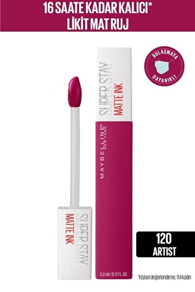 Maybelline New York Super Stay Matte Ink City Edition Likit Mat Ruj - 120 Artist