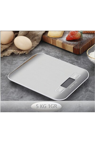 REDMOON Lüx Dijital Mutfak Terazisi 5 Kg 1 Gr Hassas Paslanmaz Çelik + Pil Hediyeli