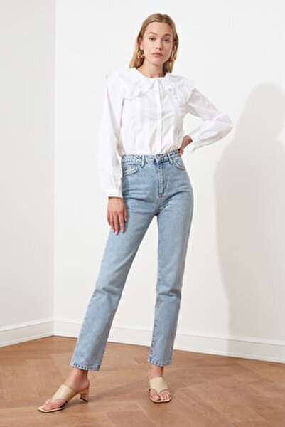 Açık Mavi Yüksek Bel Bootcut Jeans TWOSS21JE0035