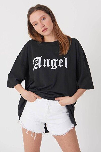Addax Angel Yazılı T-shirt P9362-1 - G7