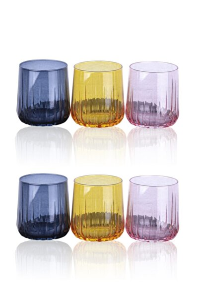 Paşabahçe Nova 3 Renkli Meşrubat Bardağı 6'lı 96900