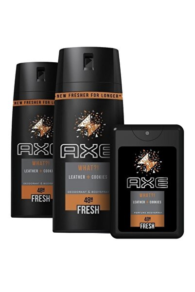 Axe Leather & Cookies Erkek Deodorant Sprey 150 ml x2 + Cep Parfümü 17 ml