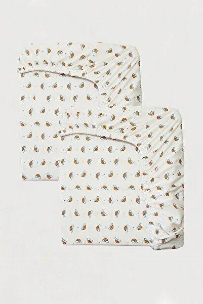 MOTHERCARE 2'li %100 Pamuklu Lastikli 70x140 cm Desenli Bebek Çarşafı