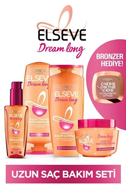 ELSEVE Dream Long Uzun Saç Bakım Seti+l'oreal Paris Cherie On The Cake Bronzer Hediye