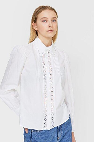 Stradivarius Kadın Beyaz Romantik Gömlek