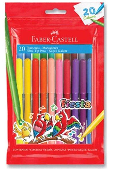 Faber Castell Fiesta Keçeli Boya Kalemi 20'li