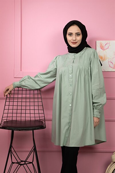 lamelif store Kadın Gömlek 2112 Yeşil