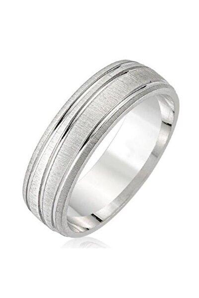 Takı Dükkanı Erkek Mat Çizgili Gümüş Alyans Söz Nişan Yüzüğü twr05