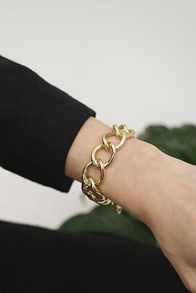 Marjin Kadın Altın Renkli Zincir Bileklikaltın
