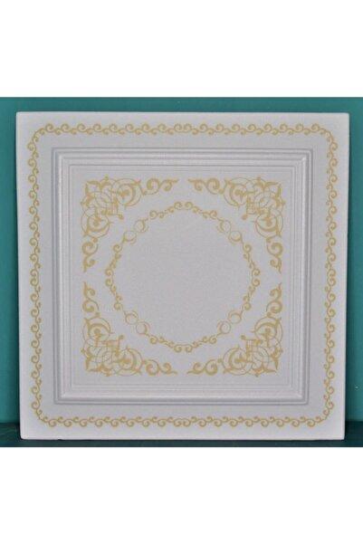 Delle Dekor Altın Motifli Strafor Köpük Tavan Kaplama 50x50 ( 8 Adet 2m2 )