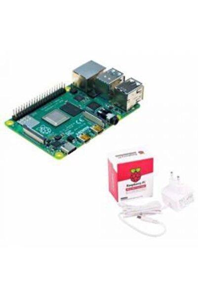 Raspberry Pi 4-8 Gb + Lisanslı Güç Adaptörü-5v/3a-type C-beyaz