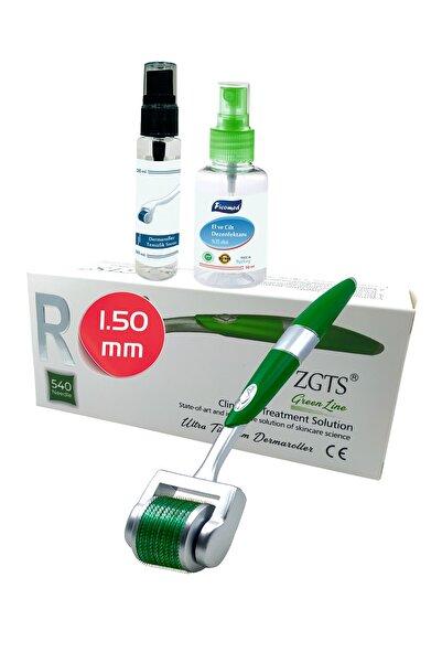 Zgts Green Line Dermaroller 1.50 mm Titanyum 540 İğneli Vücut Bölgesi İçin Derma Roller