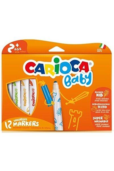 CARIOCA Jumbo Bebek Süper Yıkanabilir Keçeli Boya Kalemi 12'li
