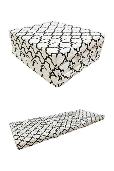 Tedarikcenter Katlanır Yatak 70x180 cm Tek Kişilik Yatak Yer Yatağı  Sünger Yatak - Morocco Desen