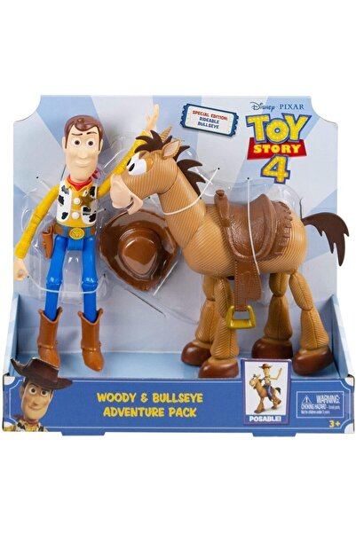 mattel Disney Toy Story 4 Woody & Bullseye Aksiyon Figür