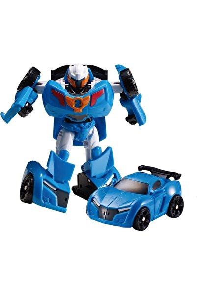 CİMCİME OYUNCAK Tobot Transformers Stil Dönüşebilir Oyuncak Araç Hem Robot Hem Araba 12 Cm.
