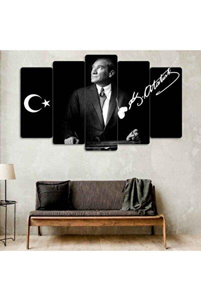 Evonya Mustafa Kemal Atatürk 5 Parçalı Dekoratif Tablo