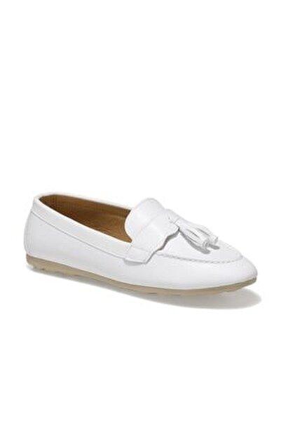 DS21007 1FX Beyaz Kadın Loafer Ayakkabı 101017821