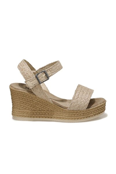 Butigo TAMARA 1FX Naturel Kadın Dolgu Topuklu Sandalet 101044420