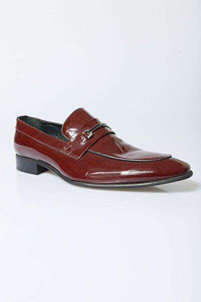 Centone Erkek Bordo Smokin Deri Ayakkabı 16-5066