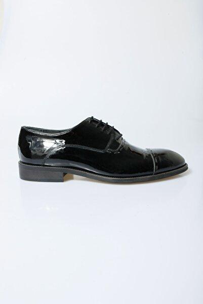 Centone Erkek Siyah Smokin Deri Ayakkabı 16-5133