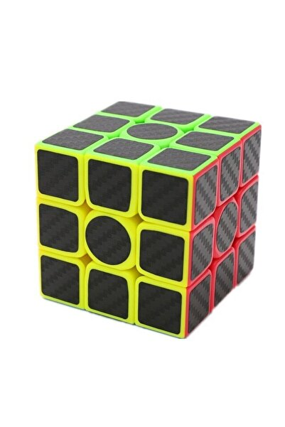 Tina Zeka Küpü Karbon Fiber Kaplama Rubik Küp