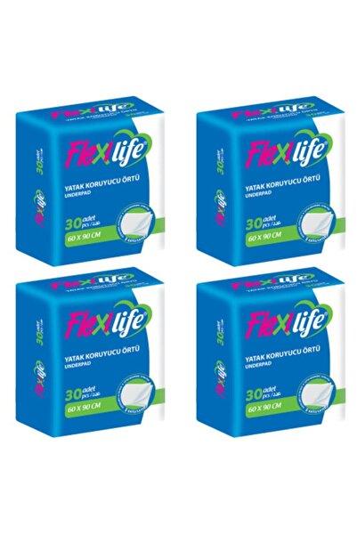 Flexi Life Flexilife Hasta Altı Bezi Yatak Koruyucu 60x90 Cm 30'lu 4 Paket