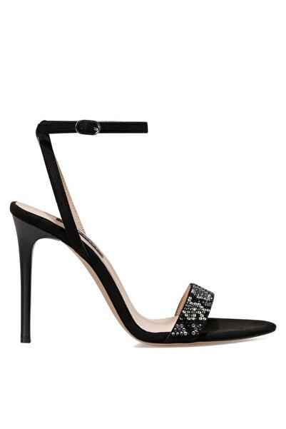 Nine West Georgıa Siyah Kadın Sandalet