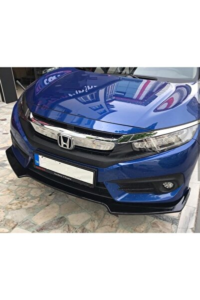 OLED GARAJ Honda Civic Hatchback Fk7 Ön Tampon Lipi 3 Parça Parlak Siyah