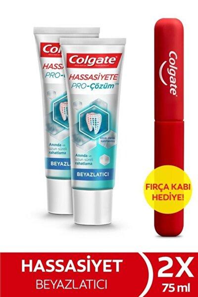Colgate Hassasiyete Pro Çözüm Beyazlatıcı Pro Relief Diş Macunu 75 ml X 2 Adet Fırça Kabı Hediye