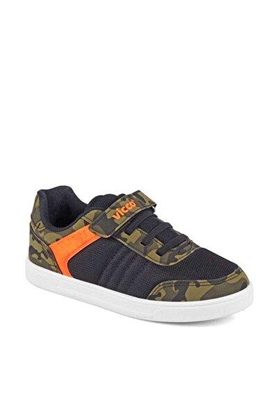 Vicco Bağcıklı Cırtlı Spor Ayakkabı Haki Siyah