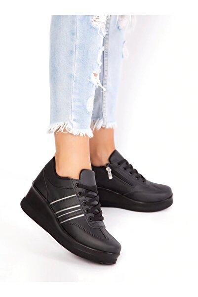 ayakkabıhavuzu Kadın Siyah Spor Ayakkabı