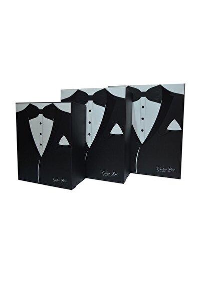 Duru Çeyiz Sandıkları Siyah Smokin Modelli Damat Kutu