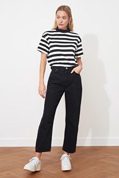 Antrasit Yüksek Bel Boyfriend Jeans TWOAW21JE0106