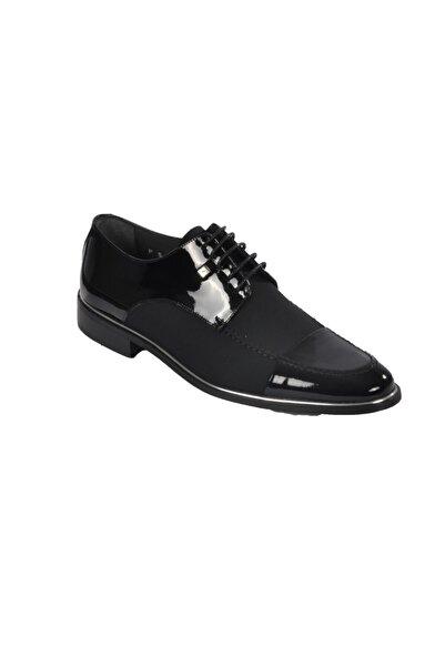 Fosco Erkek  Siyah Rugan Klasik Ayakkabı