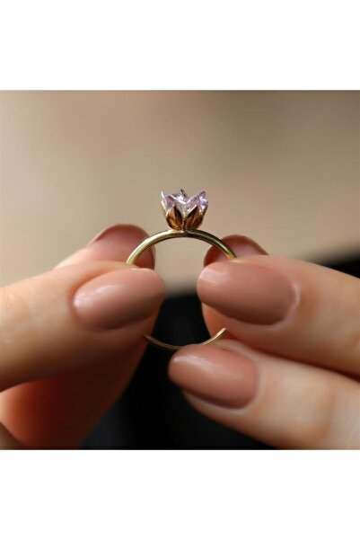 Safir Kuyumculuk Lotus Çiçeği Altın Yüzük Yz06664