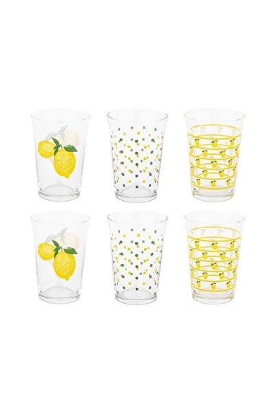 Tantitoni 6 Parça Limon Desenli Su Bardağı Takım