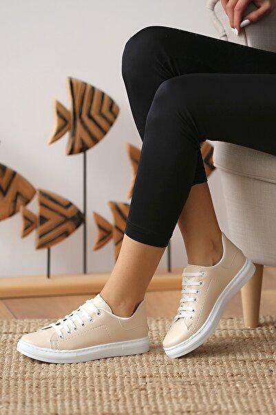 Pembe Potin Kadın Nut Casual Ayakkabı