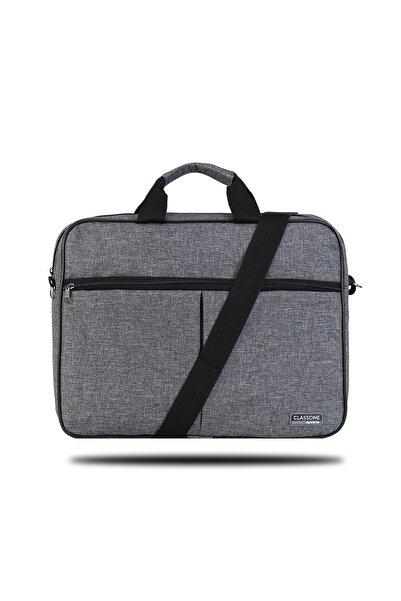Classone Gri 15,6 inç Uyumlu Laptop Notebook El Çantası BND304