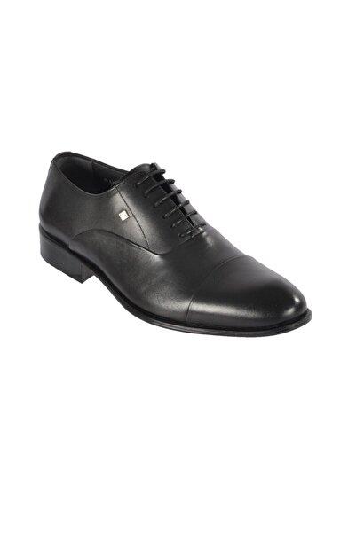 Fosco Erkek Siyah Hakiki Deri Klasik Ayakkabı 2250-3