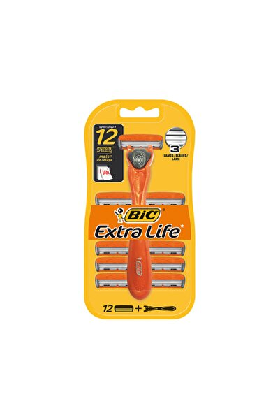 Bic Bıc 3 Hybrid Extra Life Tıraş Bıçağı 12 Kartuşlu