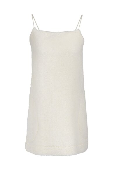Keikei Kadın Beyaz Teddy Bear Kısa Elbise