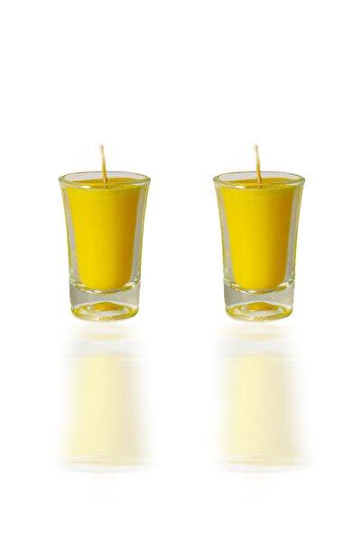 Anka Piknik Vanilya Kokulu Ikili Sarı Bardak Mum