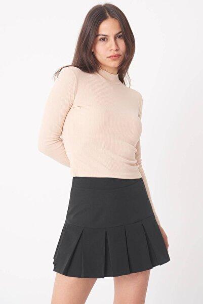 Addax Kadın Bej Uzun Kollu Bluz B1070 - U8 ADX-0000023027