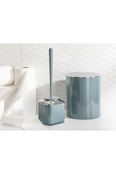 English Home Yeşil Elegance Kristal 2'li Banyo Takımı 19x21,5 cm+10x10x37 cm