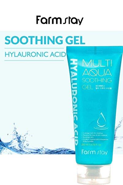 Farmstay Hyaluronic Acid Multi Aqua Soothing Gel - Nemlendirici, Yenileyici, Gençleştirici 200 ml